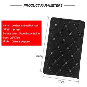 Image 2 - Universal Car Armrest Cover Mat Console Arm Rest Covers Soft Leather Sponge Protective Pad Mats Set Waterproof Auto Accessories