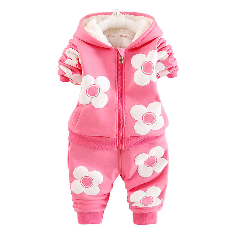 BibiCola Girls Clothing Sets Autumn Kids Girls Thick Warm Clothes Suit Children Velvet Tracksuit for Baby Girls Winter Clothes girls clothing sets cotton velvet fashion pink sports suit brand new 2017 autumn spring girls tracksuit kids clothes size 3 14