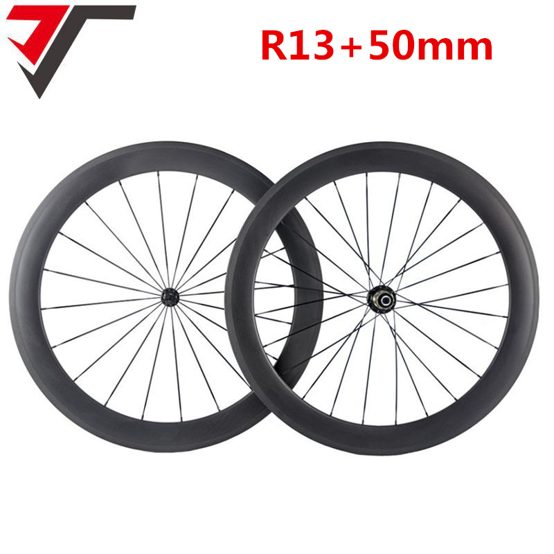 TRIPS light weight 50mm Carbon Clincher road carbon Wheels With pillar Spokes R13 Hub Basalt Brake