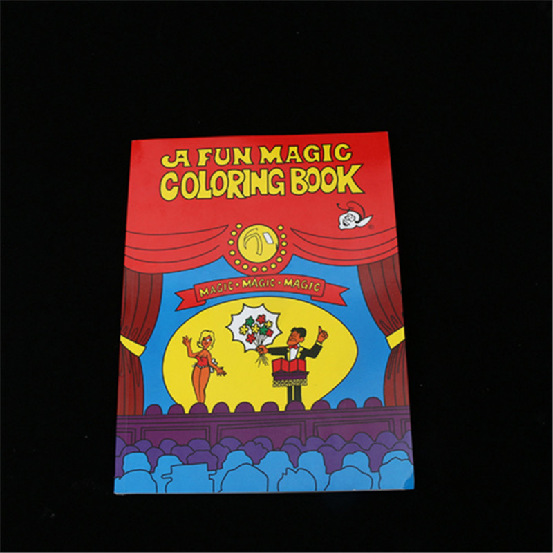 HEY FUNNY free shipping Fun Magic Coloring Book Magic tricks ...