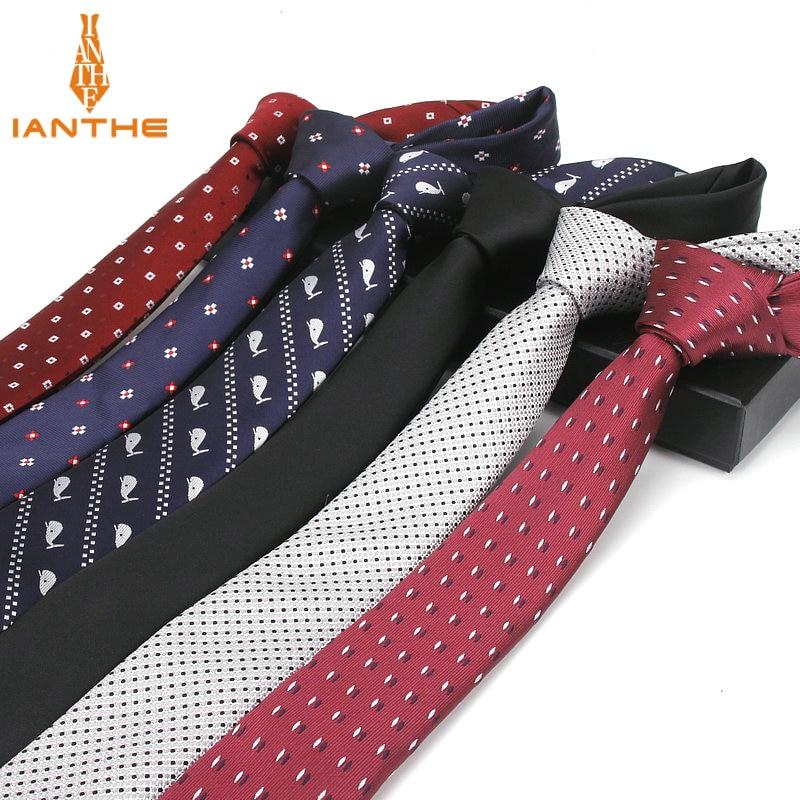 2018 High Quality Men's Tie 5 Cm Skinny Ties Wedding Groom Neckties For Men Animal Cravate Business Pour Homme Rouge Slim Stripe