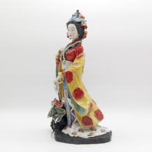 Chinese Style Character Manual Sculpture Glazed Ceramic Ornaments Jia Yuanchun Model
