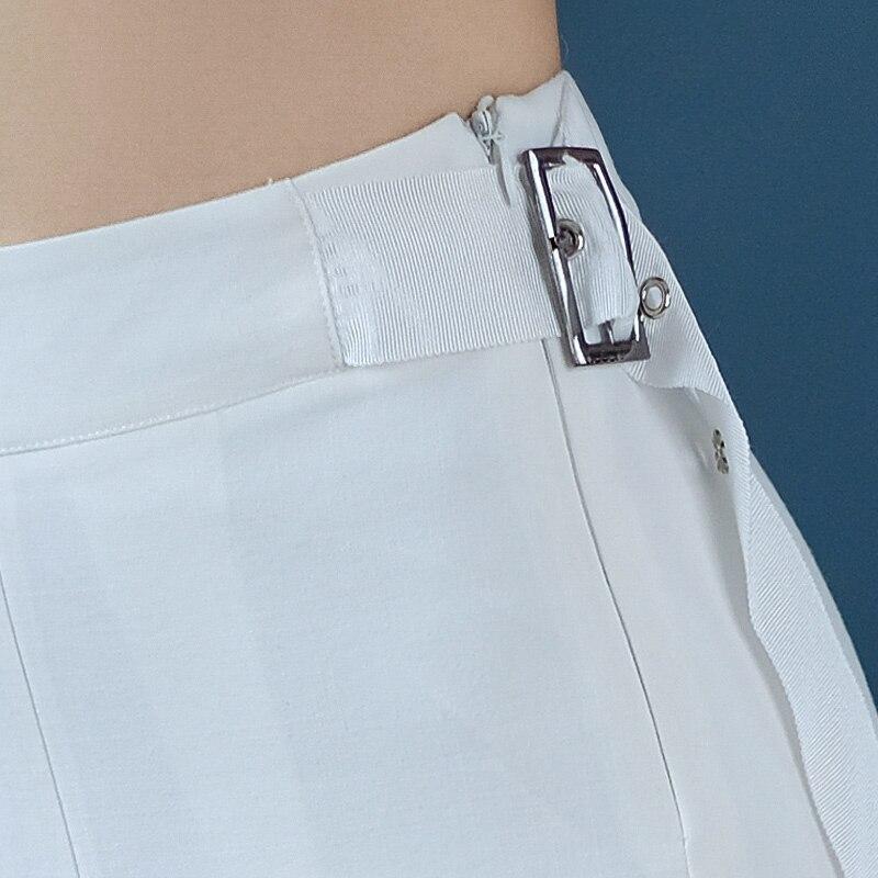 blanc Janeluxury Nouveau jambe Lâche Pantalon De Marque Noir 2018 Tempérament Femmes Élégantes Banlieue Large Printemps Ol Été 46qax4rwv