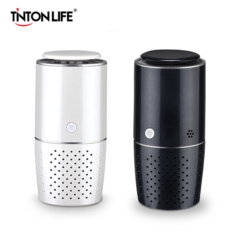 TINTON LIFE Air Purifier HEPA Carbon Filter Freshener Anion Odor Eliminator Remove Odor Smoke For Car Home Desktop