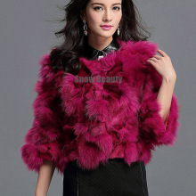 fashion colorful women short fox fur jacket foot real fox fur for lady autumn warm style fur coat free shipping 10 colors CW3357