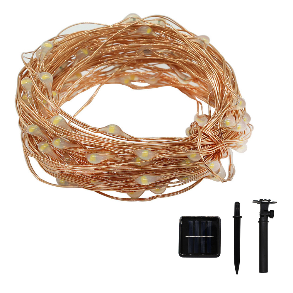 M 150Leds Copper Wire Solar LED string light Mini Waterproof Fairy Lights For Christmas Holiday Party Garden Wedding Decoration