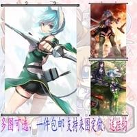 Sword Art Online Asada Shino 60X90 CM Japan Cartoon Fabric Cloth Scroll Painting HD Anime Poster