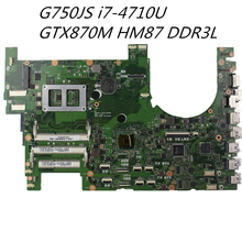 G750JS laptop motherboard for Intel HM87 Chipset i7 4700HQ DDR3 32GB GTX870M mainboard 100% tested free shipping