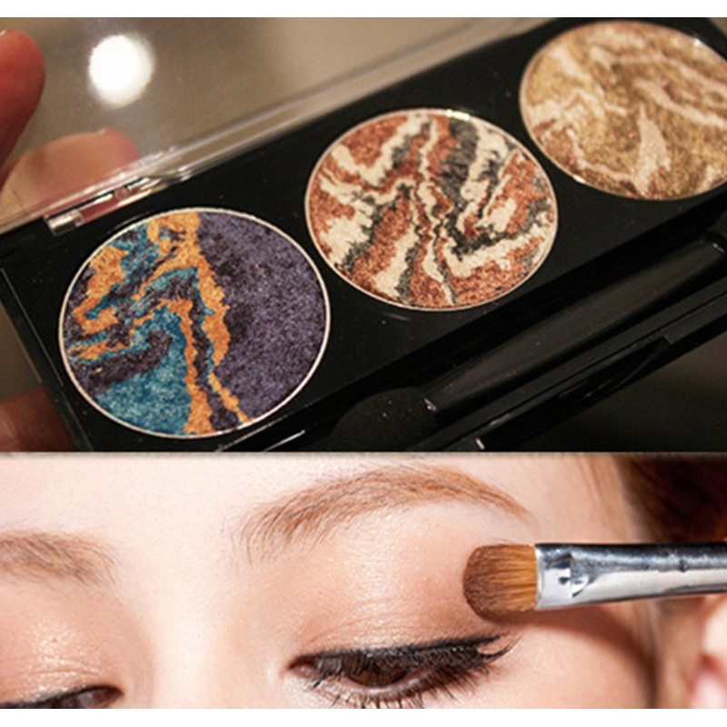 3 colors mix mineral baked eyeshadow palette planet eye shadow ...