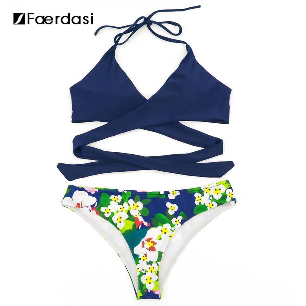 Faerdasi 2017 Sexy Brazilian Bikinis Mujeres Traje de Baño Empuja Hacia Arriba B