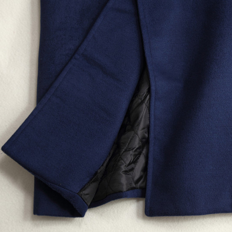 Tamaño Invierno Lana Suelto Imitado Otoño Abrigo Exteriores Libre Vestir Blue De Gray dark Prendas Moda Mujeres Espesar Gran Green Navy Las Cachemir army z5YZOwqO