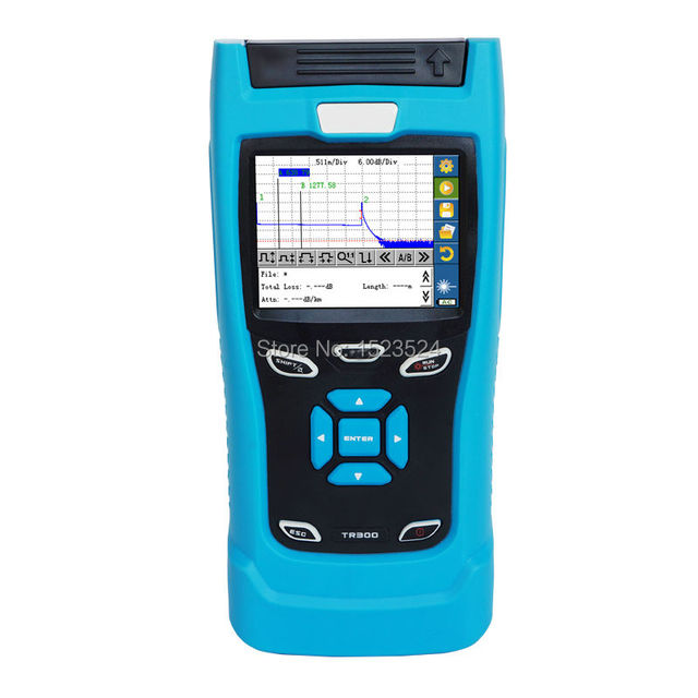 32/30dB SM 1310/1550nm Mini OTDR Optical Time Domain Reflectometer Fiber Optic OTDR with Built-in VFL and Touch Screen