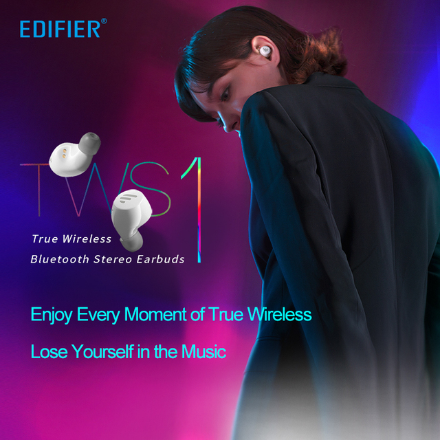 EDIFIER TWS1 TWS Earbuds Bluetooth v5.0 aptX Touch control IPX5 rated Ergonomic design wireless earphones Bluetooth earphone 1