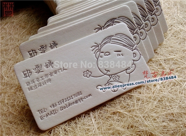 Top grade letterpress business cards 600gsm imported beige thick top grade letterpress business cards 600gsm imported beige thick cotton paper edge painting round corner upscale reheart Image collections