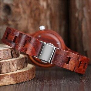 Image 4 - Mode frauen Uhr Natürliche Sandale Holz Bambus Holz Uhren Damen Armband Armbanduhr Quarz Analog Casual Uhr Uhren
