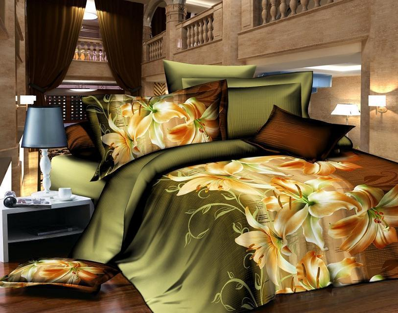 New Hot Fashion Style! 3D Printing Bedding, King 4 Quilt Bed Linen, Bed Sheets