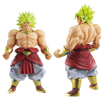 Anime Dragon Ball Z Action Figures With Original Box Goku Broly 25CM PVC Model Figurine Dragon Ball Collection Toys Gift #E model fans 2pcs set dragon ball z original banpresto scultures zoukei tenkaichi budoukai 5 figures nappa
