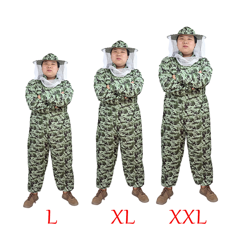 Beekeeping Suit Professional Protective Breathable Camouflage Suit Equipment Safety Clothing Beekeeper Protect Bee Hat Veil