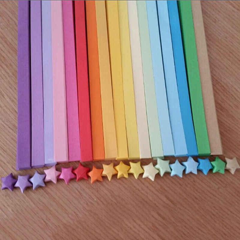 80 PCS = 1 שקית Handcraft אוריגמי לאקי סטאר נייר רצועות נייר אוריגמי Quilling נייר בית חתונת קישוט