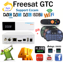 цена на Freesat GTC Satellite Receiver DVB-S2 DVB-C DVB-T2 ISDB-T 2GB RAM 16GB ROM Wifi 2.4G+BT4.0 Amlogic S905D Top set box android 6.0