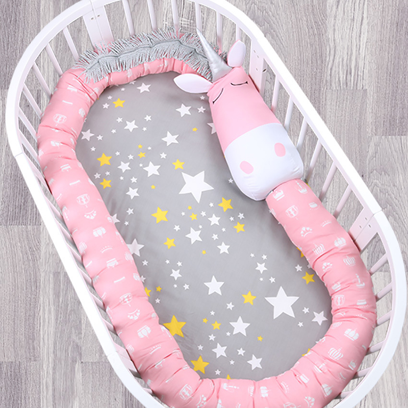 330 CM bébé lit pare-chocs pour nouveau-né infantile lit protecteur literie bébé chambre décoration nouveau coton bébé berceau pare-chocs