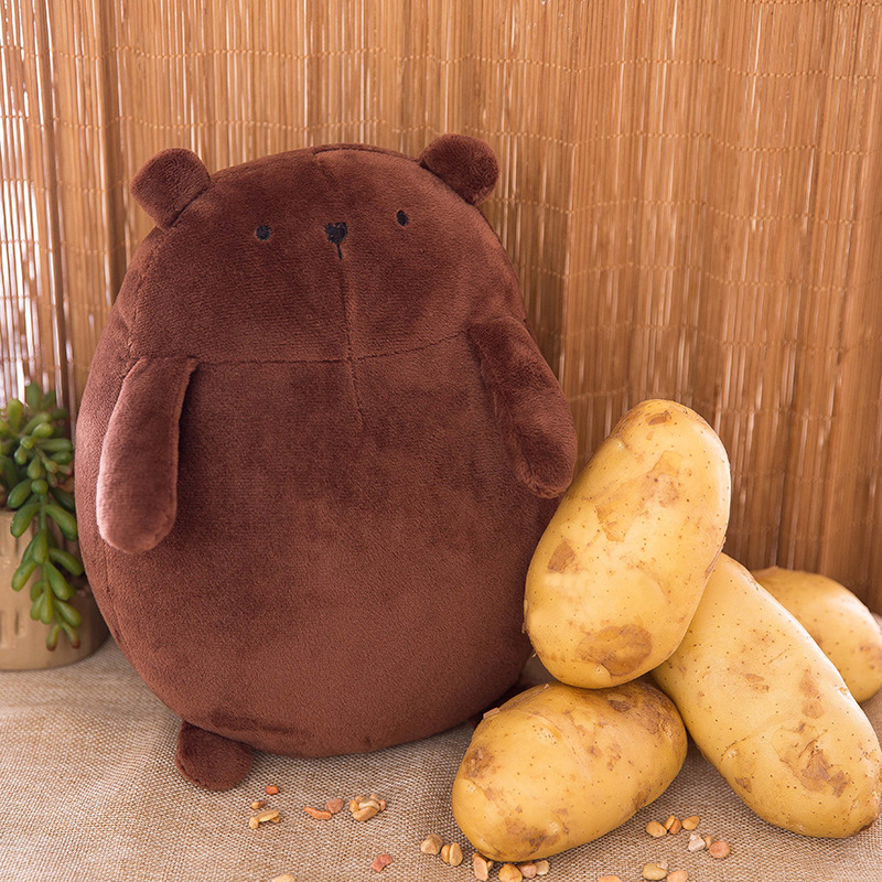 25CM Super cute potatoes bear plush toy doll Lovely Valentines Day kawaii Soft Pillow Valentine's Children's day birthday Gifts bicycle lpv love promise of vow poke valentines day gifts
