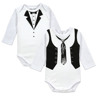 2pcs Lot Baby Gentleman Body Suit Original Boys Long Sleeves Bodysuite Popular Style European Style Newborn