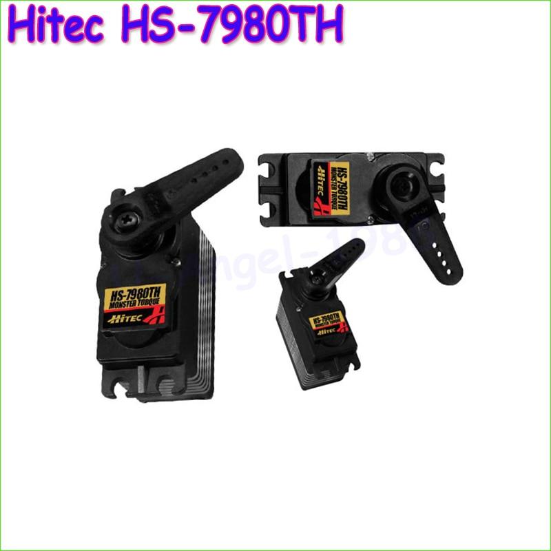 100% Original NEW Hitec HS-7980TH Mega Torque HV Coreless Titanium Gear Servo HS7980TH/HS7980/7980 savox sc 1256tg high torque titanium gear digital steering coreless servo 20kg 63027