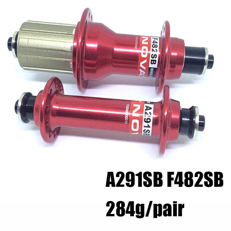 Road Bike Novatec 291 482 Bearing Hub AL7075 Aluminum Alloy Hub Compatible Pads 8/9/10/11 Speed, Front 20 Rear 24 Hole sema novatec dh41sb bike quick release front wheel front hub novatec 32 holes hub for bmx recumbent bicycle free shipping