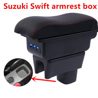 For Suzuki Maruti DZire Swift armrest box central Store content box with cup holder ashtray decoration With USB interface