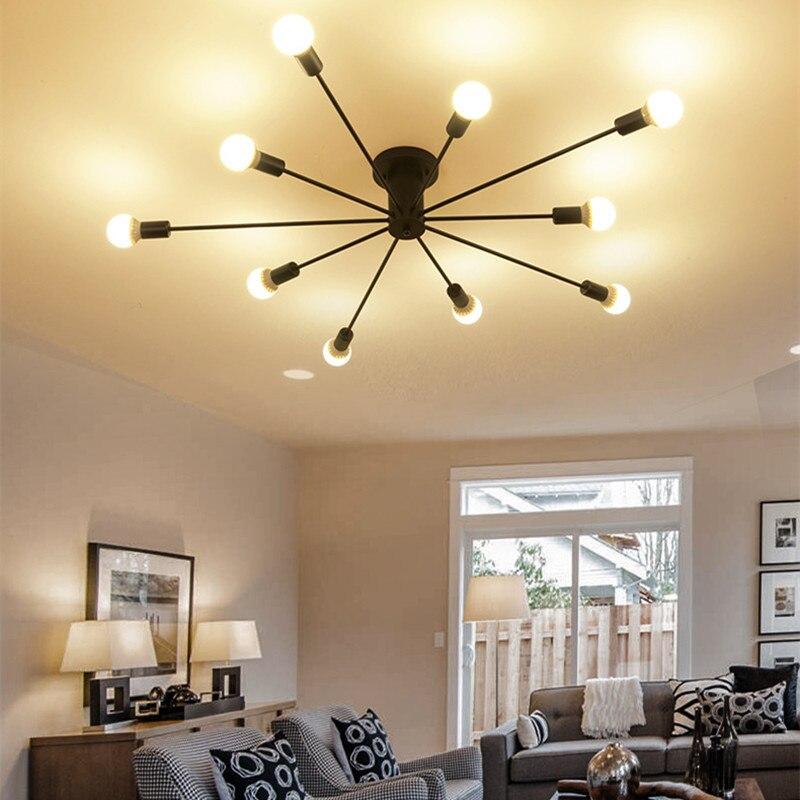 все цены на Modern retro creative personality 10 head Ceiling Lights simplicity Modern Hotel bedroom living room restaurant LED Ceiling Lamp