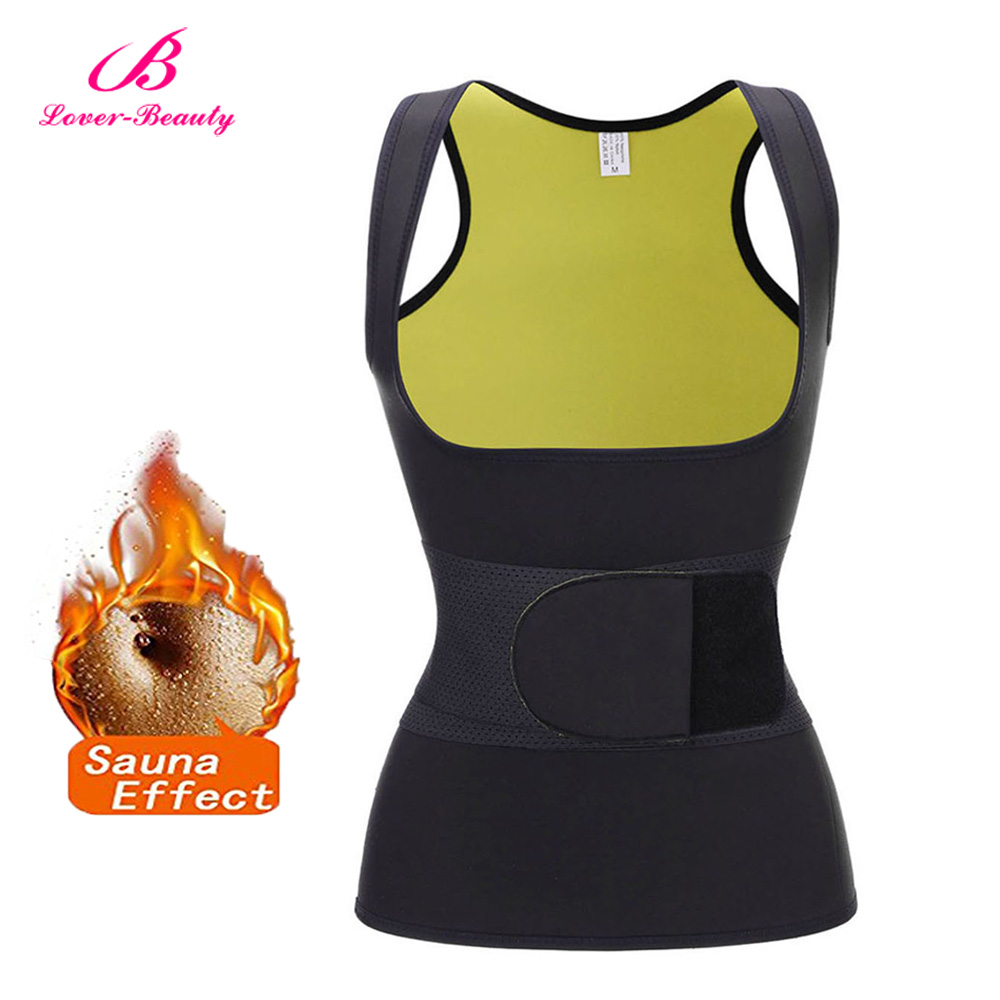 397491b061e23 Detail Feedback Questions about Lover Beauty Neoprene Sweat Waist Trainer  Vest Weight Loss Sauna Suit Effect Slimming Shirt Body Shaper Adjustable  Waist ...