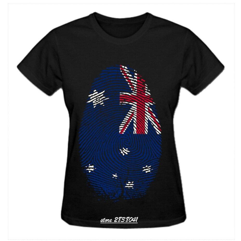 Design t shirt online australia - Rttmall Harajuku Tumblr Crew Neck Fingerprint Flag Australia Women S T Shirts Streetwear Country Flag Top Design