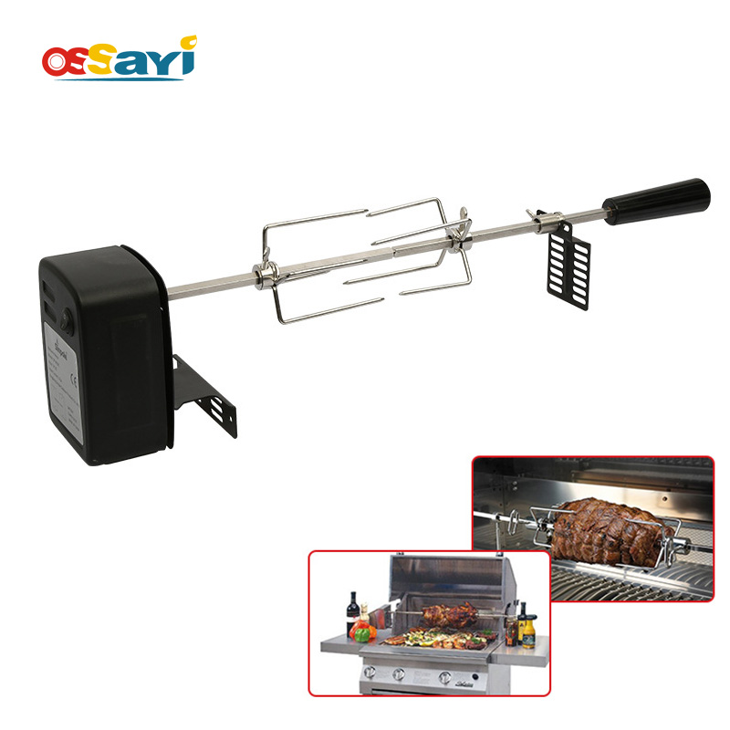 Automatic BBQ Grill Rotisserie Electric BBQ Motor Roast Branch Metal Outdoor Camping Spit Roaster Rod Charcoal BBQ Pig Chicken
