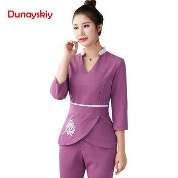 07599a67a3 Las mujeres de ropa de 2 piezas conjuntos de mujer enfermera uniformes al  por mayor belleza ropa esteticista médico ropa de trabajo uniforme de  enfermera