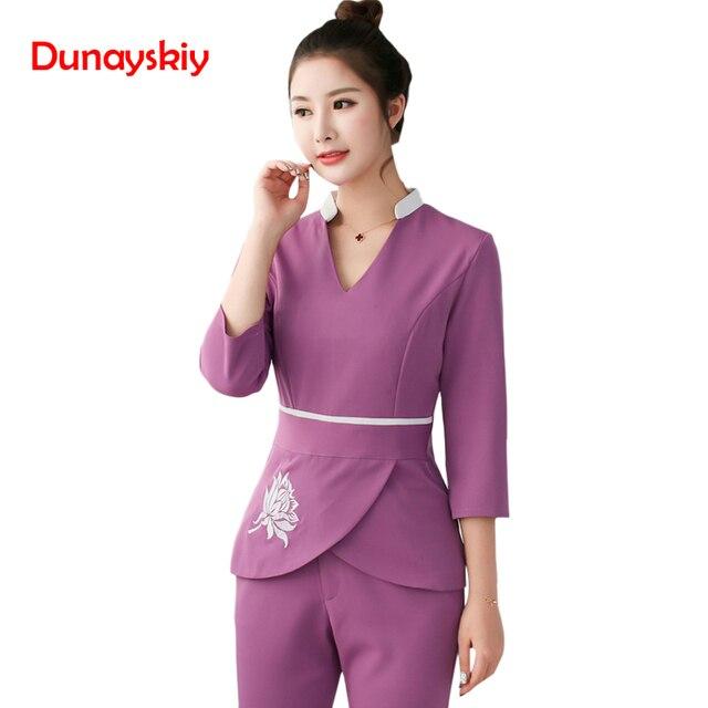 4f0364e42ad Las mujeres de ropa de 2 piezas conjuntos de mujer enfermera uniformes al por  mayor belleza