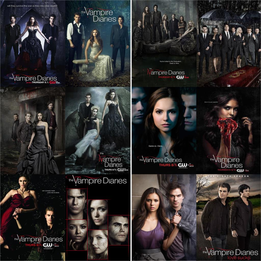 Постеры для дневников вампира, глянцевая бумага с принтом, высокое разрешение, хорошее качество, яркие цвета, украшение для дома, бесплатная...