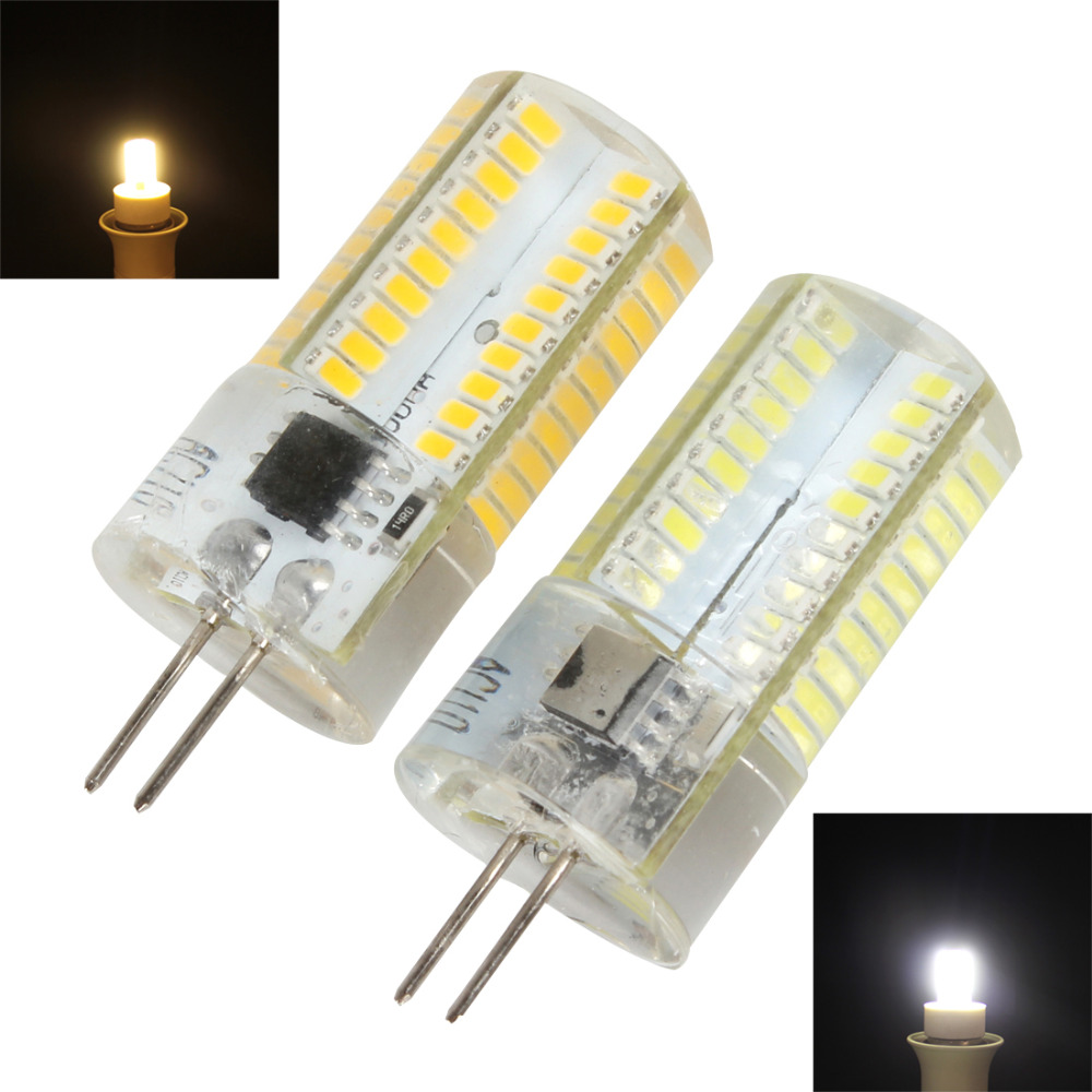 Dimmable G4 3014 SMD 80 LEDs Corn Bulb Light White / Warm White Silicone Crystal LED Lamp Chandelier Candle Lighting 110V / 220V