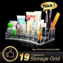 WX Acryl Make-Up Veranstalter Transparent Schreibtisch Kosmetik Make-Up Veranstalter Aufbewahrungsbox Lippenstift Bürstenhalter