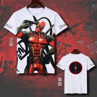 2018 New Deadpool T shirts Anime Cosplay T shirt Casual Short Sleeve Tops Men Cotton Tees