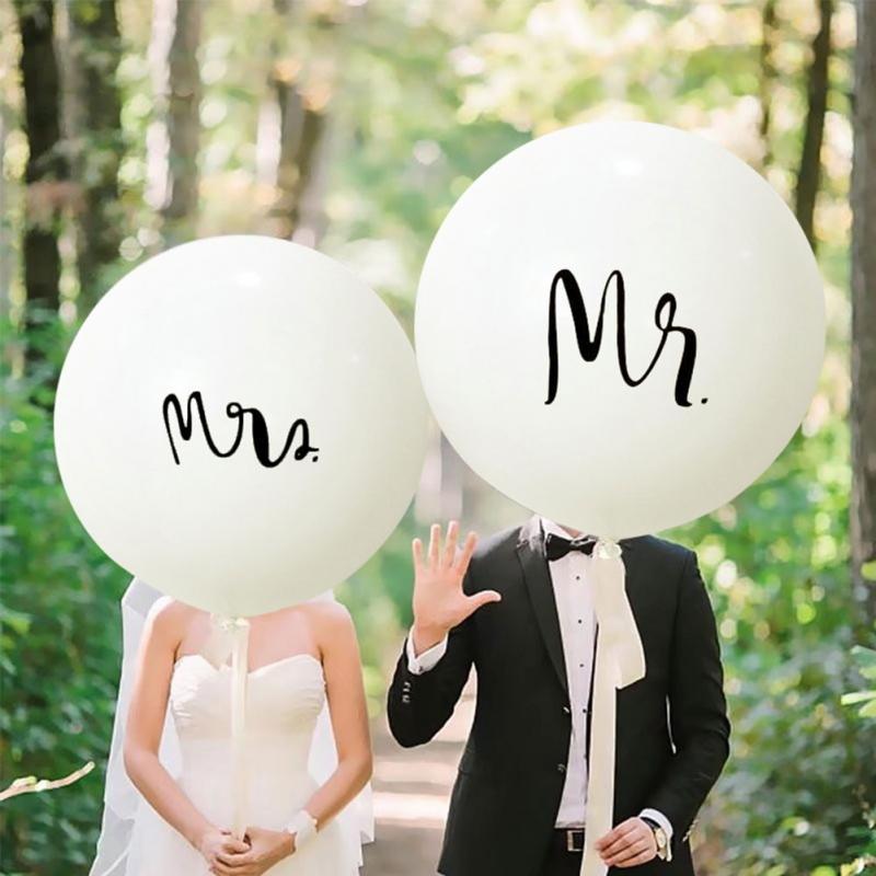 "2Pcs 36/"" Inch Giant Large Big Latex Ballon Wedding Party Helium Decor FL"