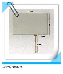 164*103 nova 7 polegada de navegação do carro DVD GPS tela de toque da resistência de 4 fios do painel de LCD de 164 MM * 103 MM frete grátis