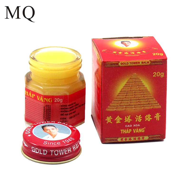 все цены на Vietnam Gold Tower Balm 20g/bottle Relieving Itching Muscle Joints Rheumatism Pain-Killer Detumescence Ointment Active Cream