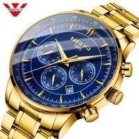 NIBOSI Watch Men Gold Fashion Sport Quartz Clock Mens Watches Top Brand Luxury Business Waterproof Male Watch Relogio Masculino
