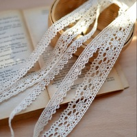 Fine Beige Cotton Lace Accessories Diy Lace Clothing Lace Fabric Sofa