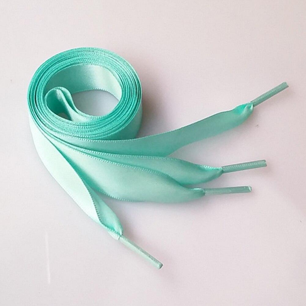 1 Pair 2CM Wide Various Colors Flat Silks Shoelaces Ribbon Satin Shoe Laces for Sneakers Sport Shoes(orange)