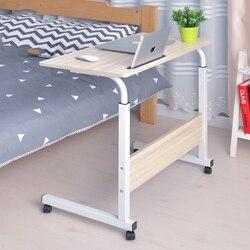 Подъемный передвижной стол компьютерный стол складной стол для компьютера Регулируемый Портативный стол для ноутбука Рабочий стол 60*40 см с...