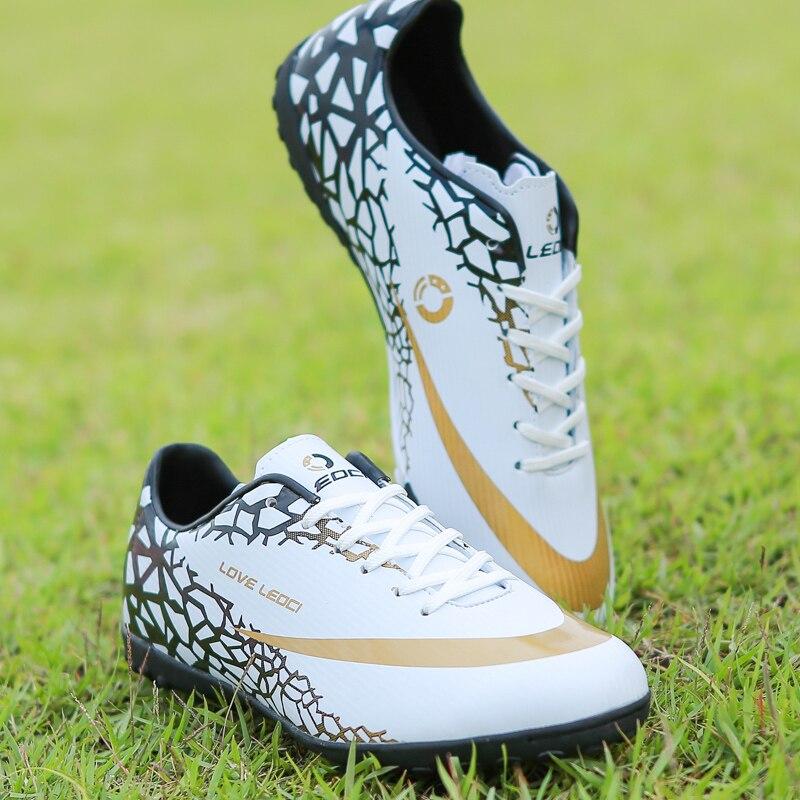 2018 Size33 44 Men Boy Kids Soccer Cleats Turf Football Soccer Shoes TF Hard Court Sneakers