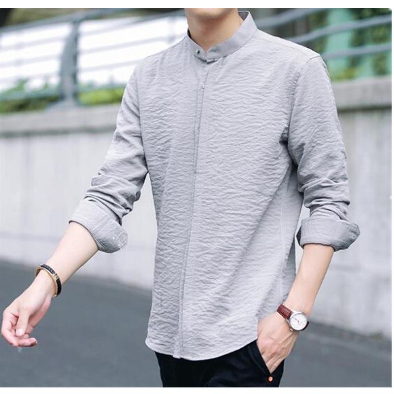 e1cbdced3fb 28-1 Summer thin stretch ice silk shirt men `s long sleeves Korean 28-2 33  ...