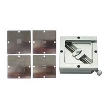 цена на 4PCS 90*90mm PS4 BGA Heating Stencils + 90mm BGA Reballing Station Jigs kit
